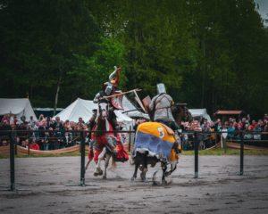 Mittelalterfest in Ter Apel. Spannendes Fest für Groß und Klein. Mit Markt und Schlachtfeld am Kloster in Ter Apel.