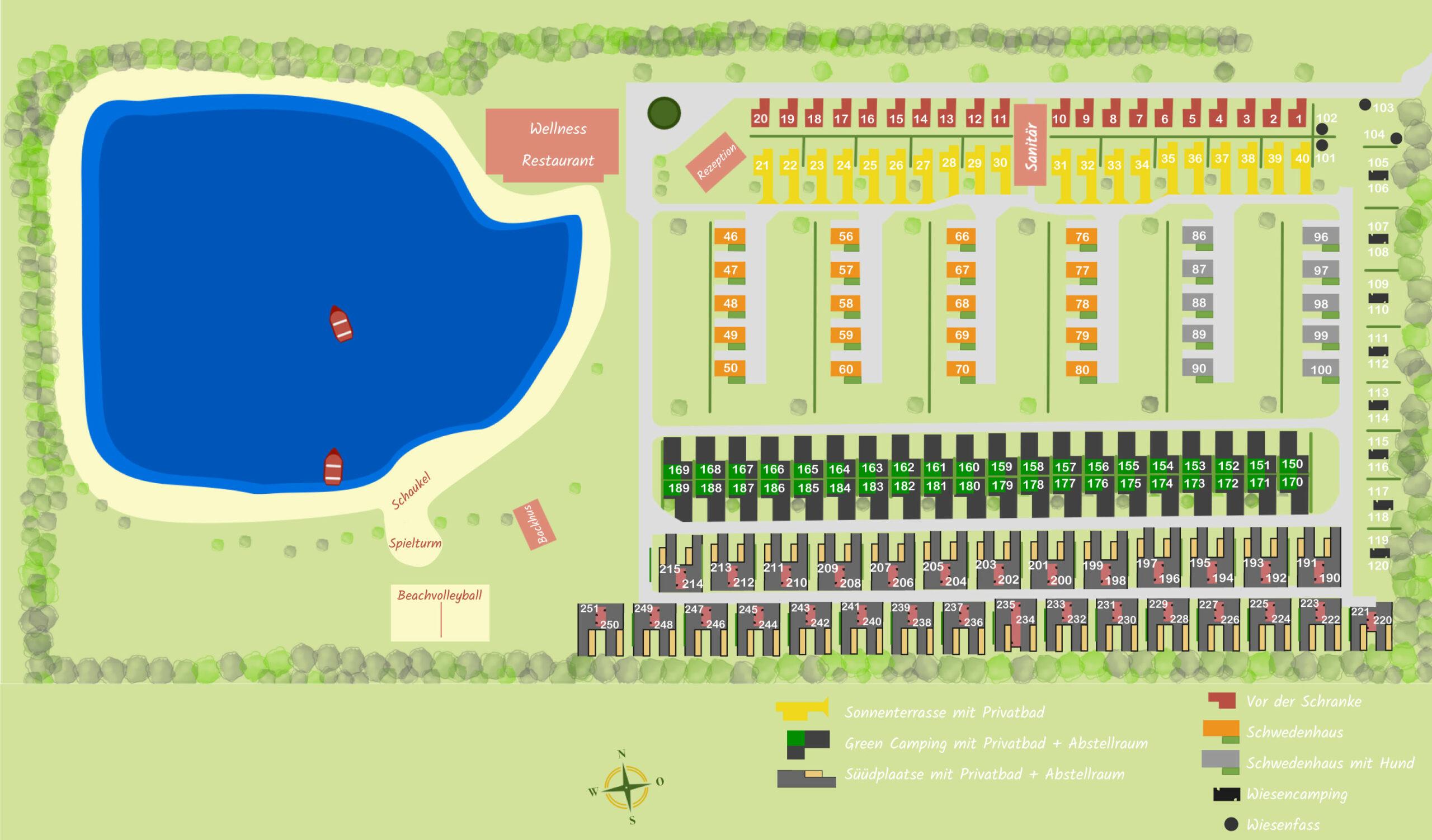 Platzplan EMSLAND-CAMP 2021