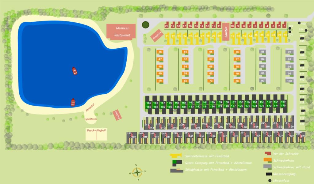 Platzplan EMSLAND-CAMP